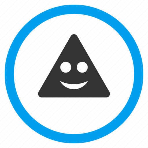 emoticon, funny, glad smiley, happy face, positive emotion, smile sign, triangle icon