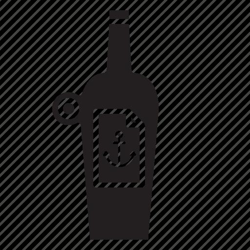 bottle, explore, olcohol, pirate, sailor icon