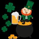 irish, gold, patrick, leprechaun, irish pot, happy