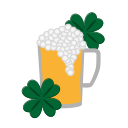 beer, craft, flower, glass, patricks, tumbler, wineglass icon