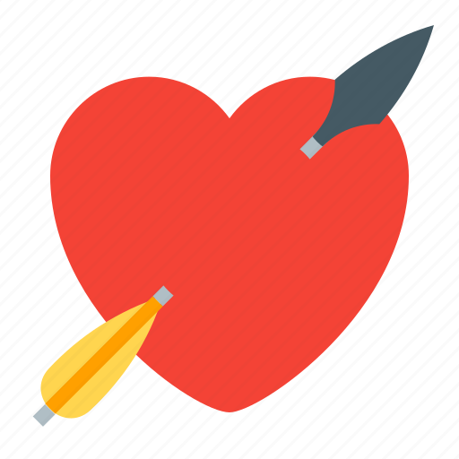 arrow, heart, holidays, love icon