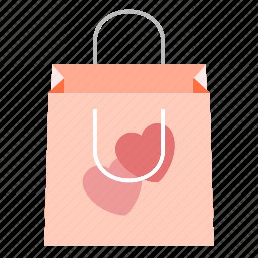 bag, gift, holidays, valentines icon