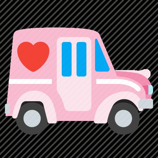 car, holidays, love, shipping icon