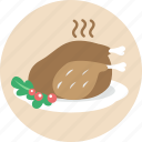 celebration, chicken, christmas, food, roasted turkey, turkey, xmas icon