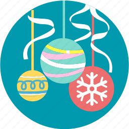 ball, christmas, decoration, greeting, ornaments, party, rainbow icon