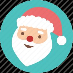 celebration, christmas, greeting, santa, season, snow, x'mas icon