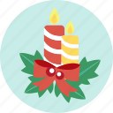 candle, celebration, christmas, ornaments, x'mas icon