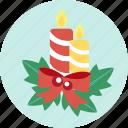 candle, celebration, christmas, ornaments, x'mas icon
