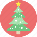 christmas tree, santa, snow, tree, x'mas icon