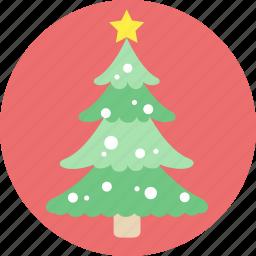 christmas tree, santa, snow, tree, x'mas icon
