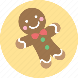 baked man, christmas, cookie, gingerbread, x'mas icon