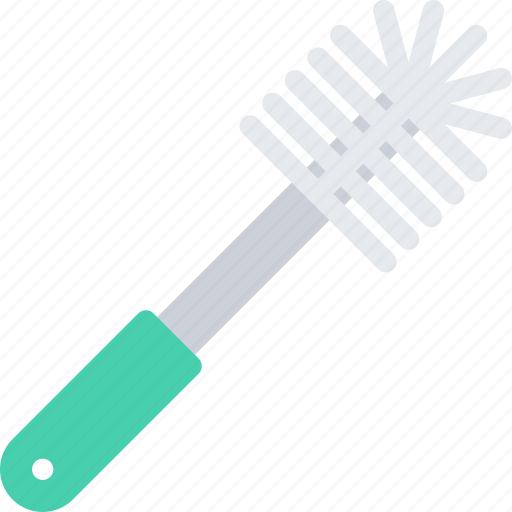 brush, cleaning, hard, repair, service, toilet, work icon