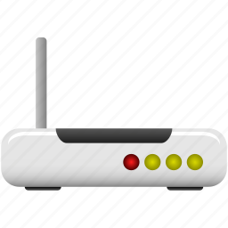 hardware, internet, modem, router, signal, wifi, wireless icon
