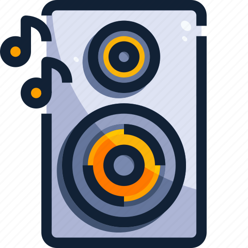 device, hardware, music, sound, speaker, technology icon