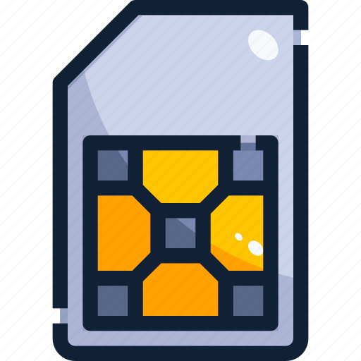 Card, device, hardware, sim, technology icon - Download on Iconfinder
