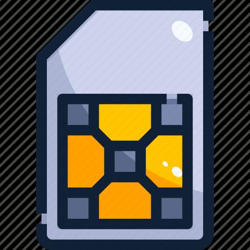 card, device, hardware, sim, technology icon