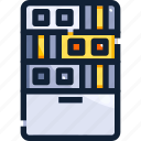 database, device, hardware, hosting, server, technology icon