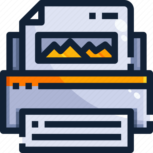 device, hardware, office, printer, technology icon