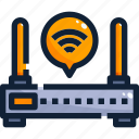 device, hardware, internet, router, technology icon