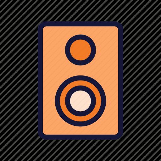 multimedia, music, sound, speaker, technology icon