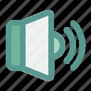 audio, computer, hardware, speaker icon