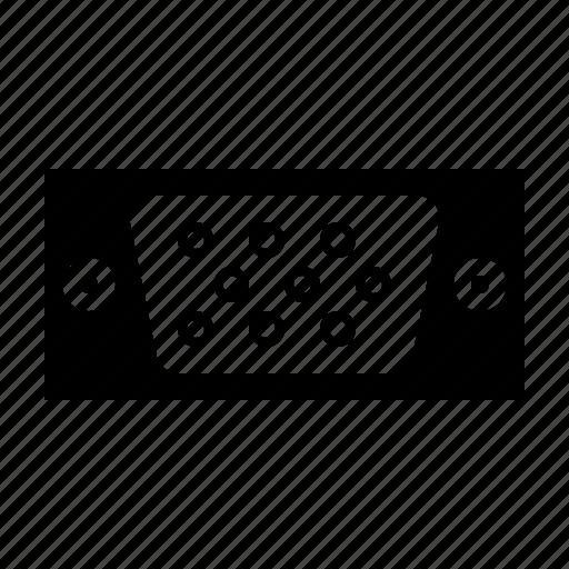computer, hardware, technology, vga icon