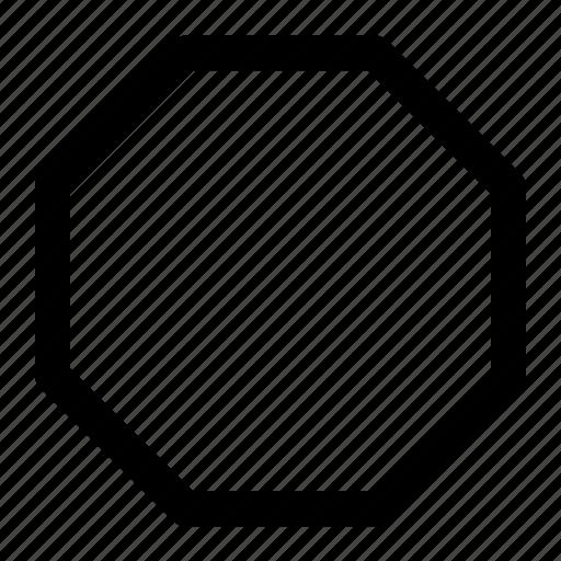 geometry, geometry octagon, octagon, octagon geometry icon