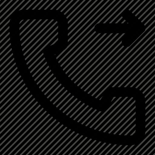 call forwarded, forwarded, forwarded call, phone icon