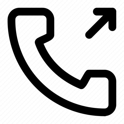 call outgoing, outgoing, outgoing call, phone icon