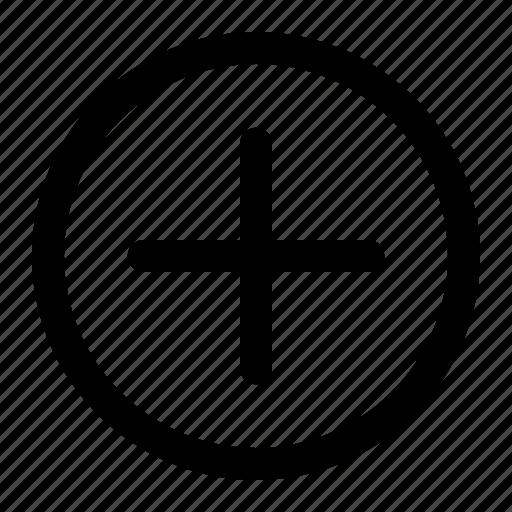circle, circle plus, plus, plus circle icon