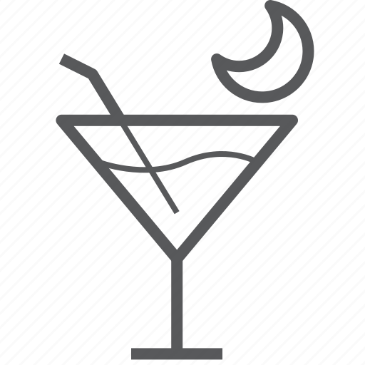 alcohol, cocktail, drink, drinks, glass, moon, wine icon