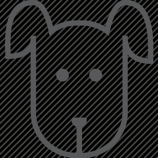 animal, animals, cute, dog, head, pet, puppy icon