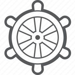 boat, helm, ship, steering, transport, vehicle, wheel icon