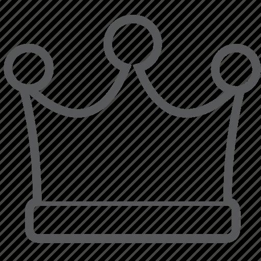 achievement, crown, king, queen, royal icon