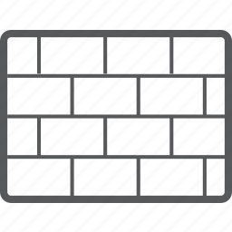 brick, built, construction, wall icon