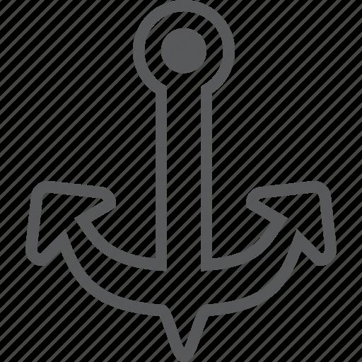 anchor, boat, marine, sea, transport, travel icon