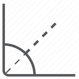 acute, angle, arrise, geometry icon