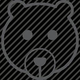 animal, baby, bear, face, teddy, wild icon