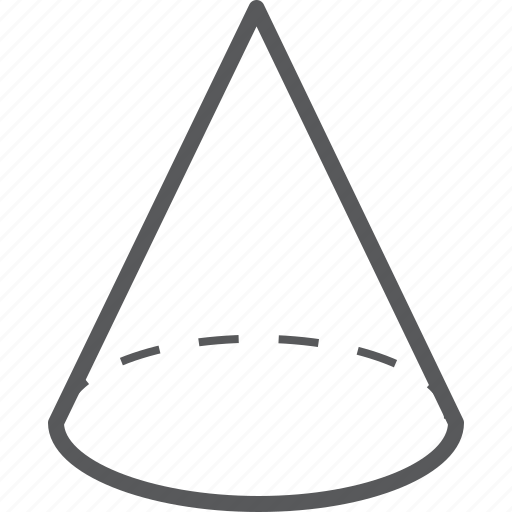 cone, geometry, shape icon