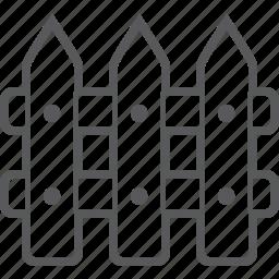 fence, garden, gardening icon