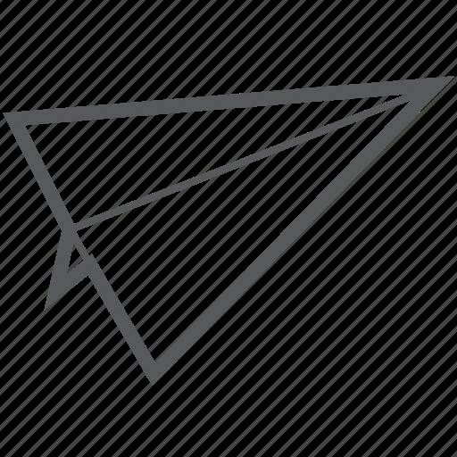 airplane, flight, paper, paper plane, plane icon