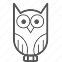 animal, education, halloween, owl icon