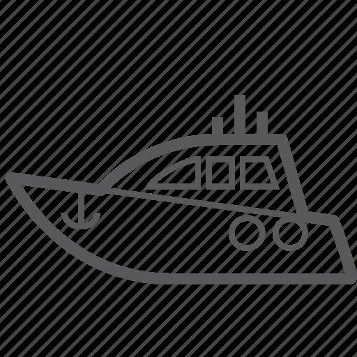 boat, cruise, cruise ship, transport, transportation, travel, vehicle icon