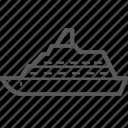 boat, cruise, ferry, ship, transportation, travel, vehicle icon