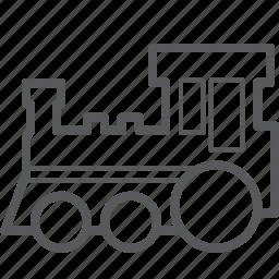 locomotive, railway, steam, train, transport, transportation icon