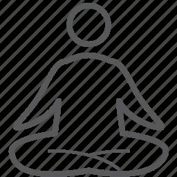fitness, health, human, meditation, person, sport, yoga icon