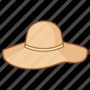 capeline, fashion, felt, floppy, hat, women icon