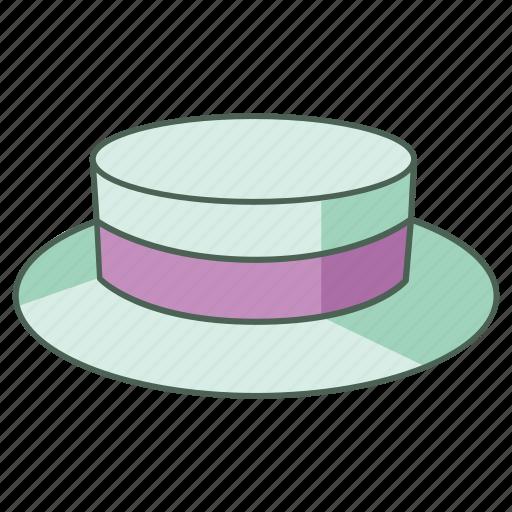 boater, hat, headwear, men, picnic, straw, summer icon