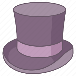 beaver, chimney, cylinder, hat, high, magician, top icon