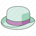 bob, bombin, bowler, derby, fashion, hat, headwear icon